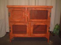 brand new 3ft 2 tier rabit/guinea pig hutch in cedar red