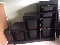 IKEA Trofast black unit