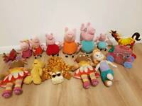 Peppa Pig and other soft toys boundle
