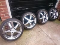 "4x BMW 18"" Fox RS-5 wheels and tyres"
