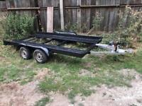 Car Trailer - with Electric Winch - Braked Wheels