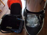 Mothercare expedior pushchair pram with carseat