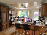 Kitchen Units - Solid Oak - Complete Kitchen including worktops, breakfast bar and sink