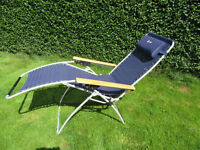 Folding reclining garden / outdoor chair. Good quality and VGC. Collect S35