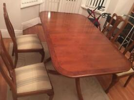 Georgian table and 4 Chairs