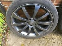 """Range Rover Sport 22"""" rims and tyres"""