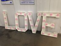 Wedding love letters home made