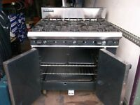 Blue seal 6 burner range with oven natural gas commercial catering