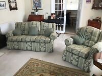 FREE TO GOOD HOME! 3 seater sofa, 2 seater sofa & armchair