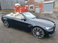 2007 BMW 320I SE 2 DOOR CONVERTIBLE HARD BLACK TOP 12 MONTHS M.O.T