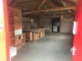 Workshop to rent/ let available secure storage