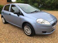Fiat Punto 1.2 Petrol-FSH, Low Miles, 5 Door & 12 Months MOT