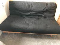 Black sofa bed/futon