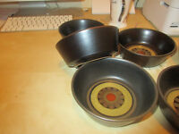 Denby POTTERY Arabesque Pattern Cereal Bowls......£40..