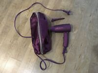Purple ghd hair dryer with bag and hair pin