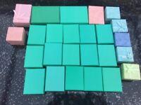25 Cardboard Jewelery Gift Box Cotton Cushion