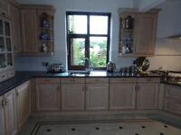 Large Solid Wood Kitchen with Granite Worktops