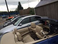 2007 BMW 3 SERIES CONVERTIBLE, TOUCH TO LOCK WITH KEY IN POCKET, START CAR WITH KEY POCKET, SATNAV