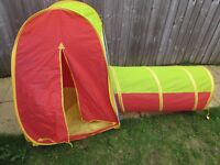 Chad Valley kids play tent and tunnel