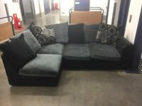 Black and Grey Corner Sofa - Delivery Available!