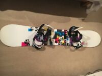 Burton Troop snowboard and Burton Scribe bindings