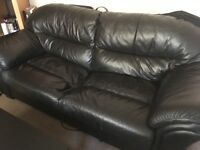 Black leather sofa £15