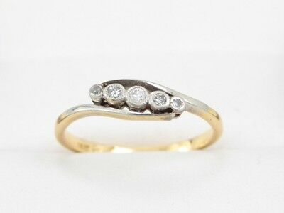 Diamond Ring Five Stone 18ct Gold Engagement Ladies Ideal Gift Size N 1/2 E80