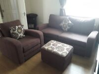 Can deliver john lewis 3 seater chair and footstool in good condition