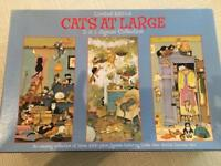 CATS AT LARGE 3 IN 1 JIGSAW PUZZLE