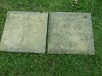 QUANTITY OF USED SLABS 44 cms x 44 cms IDEAL FOR SHED GARDEN PATH ETC £2.00 EACH CHOSE NUMBER