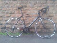 NEW British Eagle Cobra Carbon Fibre Premium Road Bike Black - RRP £1400