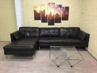 Large Dwell Leather Corner Sofa
