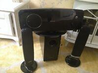 Samsung home cinema sound system and DVD player.