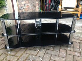 Glass Television stand for sale.