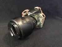 Nikon D5500 with complete setup.