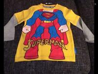 New SUPERMAN long sleeve top