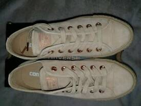 Womens Converse Green Leather Lace Up Trainers UK Size 5