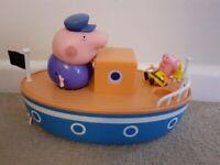 Peppa Pig Grandpa Pig bath boat