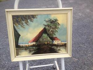 3 SMALL OLD COTTAGE OIL PAINTINGS Belleville Belleville Area image 2