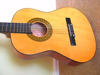ACOUSTIC GUITAR: Ideal Beginner's Guitar Complete With Electronic Tuner, Case, Manual + Free CD