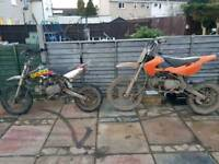 2 pitbikes for swaps or sell