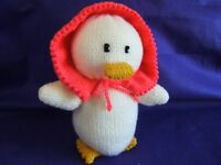 Hand knitted toy
