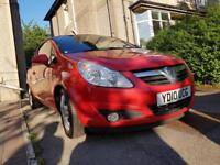 VAUXHALL CORSA 1.3 CDTI 2010 16V 1 LADY OWNER FROM NEW IN GLEAMING RED