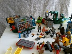 Collection of various playmobile