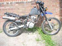 duker 125 motorcycle runs spares or repair