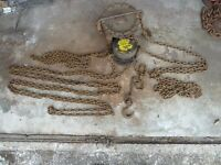 British Made Felco 500kg Block & Tackle with Carriage