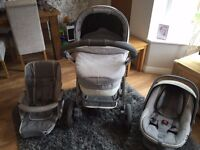 BeBecar Ip Op Evolution Magic travel System - Silver Shimmer - Great Condition