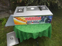 Partable gas hot dog machine