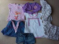 BUNDLE OF GIRL CLOTHES TOPS SKIRT SHORTS AGE 3-4 YEARS