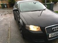 Audi A3 Tiptronic Sport Automatic Black 08 2ltr